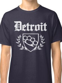 Detroit Knuckle Crest (Vintage Distressed Design) Classic T-Shirt