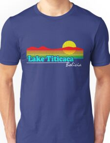 Funny Lake Titicaca, Bolivia (Vintage Distressed) Unisex T-Shirt