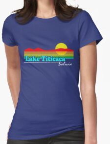 Funny Lake Titicaca, Bolivia (Vintage Distressed) Womens Fitted T-Shirt