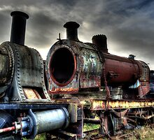 Rusting Engine Boiler by Andrew Pounder