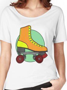Retro Skate - Orange Women's Relaxed Fit T-Shirt