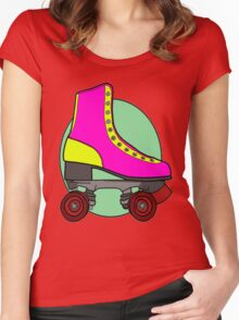 Retro Skate - Pink Women's Fitted Scoop T-Shirt