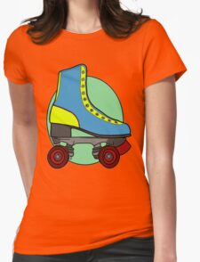 Retro Skate - Blue Womens Fitted T-Shirt