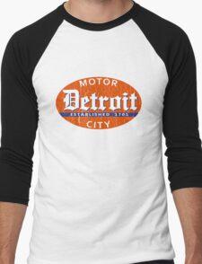 Vintage Detroit (Distressed Design) Men's Baseball ¾ T-Shirt