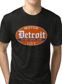 Vintage Detroit (Distressed Design) Tri-blend T-Shirt