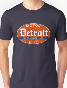 Vintage Detroit (Distressed Design) Unisex T-Shirt