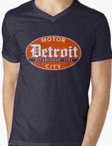 Vintage Detroit (Distressed Design) Mens V-Neck T-Shirt