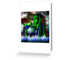 WATERHORSE Greeting Card