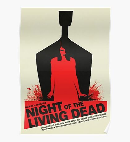 George A. Romero's Night of the Living Dead Movie Poster  Poster