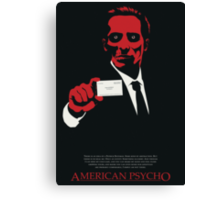 American Psycho: There Is An Idea of a Patrick Bateman Canvas Print