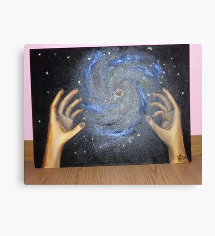The world in my hands Canvas Print