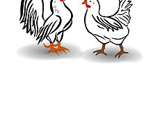 Rooster And Hen by kwg2200