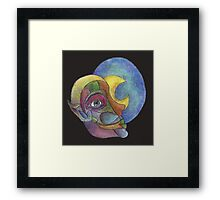 crescent lady Framed Print