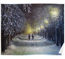 Winter night lights  Poster