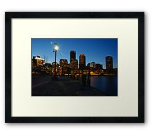 Boston Harbour Framed Print