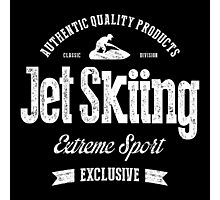 JetSkiing Extreme Sport White Art Photographic Print