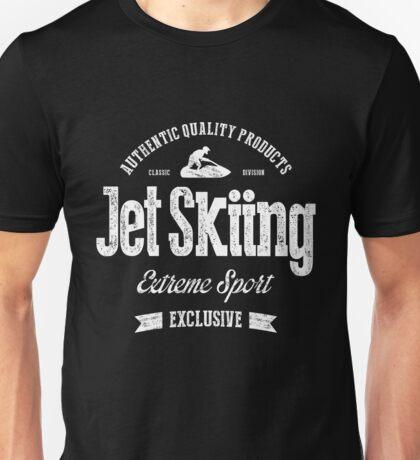 JetSkiing Extreme Sport White Art Unisex T-Shirt
