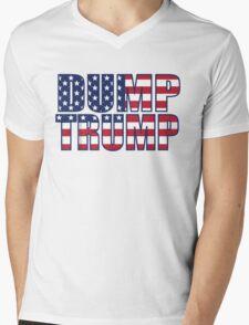 Patriotic Dump Trump  Mens V-Neck T-Shirt