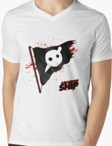 Knife Party - Abandon Ship Logo Mens V-Neck T-Shirt