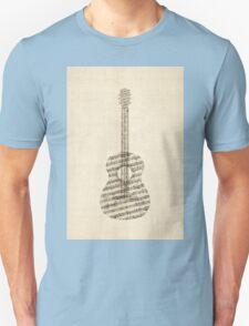 Acoustic Guitar Old Sheet Music Unisex T-Shirt
