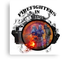 Fire fighter camera vintage gifts  Canvas Print