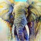 The Gentle Giant- Elephant Painting by Arti Chauhan