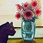 pincushions and gypsy cat by Claudia Dingle