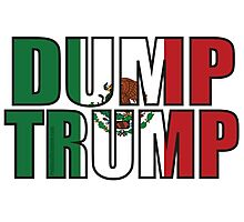 Dump Trump Mexican Flag Photographic Print