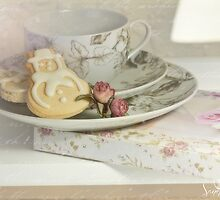 Christmas Tea at the Book-Club by SandraRos
