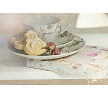 Christmas Tea at the Book-Club Photographic Print