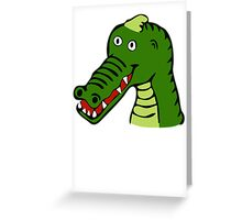 Cartoon Alligator Greeting Card