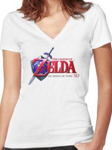 Zelda Ocarina of Time Women's Fitted V-Neck T-Shirt