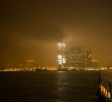 Rising towers of Hong Kong , view from sea by vishwadeep  anshu