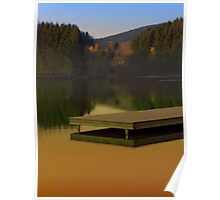 Romantic evening at the lake V | waterscape photography Poster