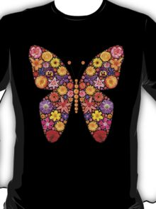 Flowers butterfly silhouette T-Shirt