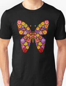 Flowers butterfly silhouette T-Shirt