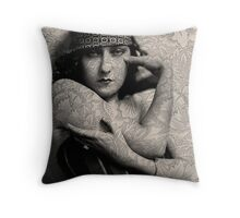 The Gloria Swanson Tattoo Throw Pillow