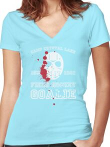 Camp Crystal Lake Field Hockey Team Women's Fitted V-Neck T-Shirt