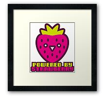 POWERED BY STRAWBERRY Framed Print
