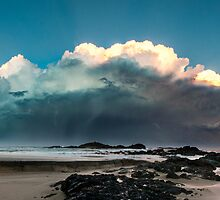 Sawtells Stormy Sunset by dan  stewart