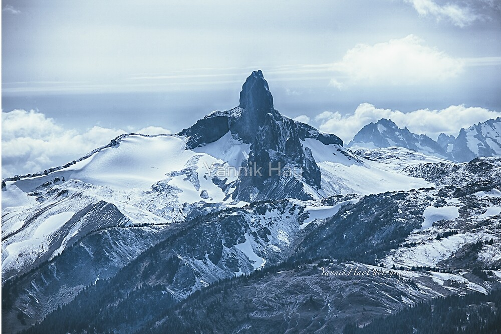 Black Tusk, Garibaldi Provincial Park. View from Whistler mountain top. B.C. by Yannik Hay