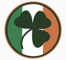 Green and orange Irish logo, shamrock  One Piece - Short Sleeve