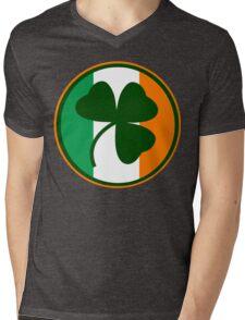 Green and orange Irish logo, shamrock  Mens V-Neck T-Shirt
