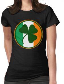 Green and orange Irish logo, shamrock  Womens Fitted T-Shirt