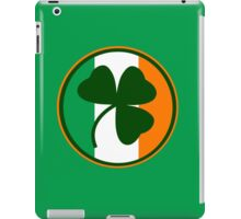 Green and orange Irish logo, shamrock  iPad Case/Skin