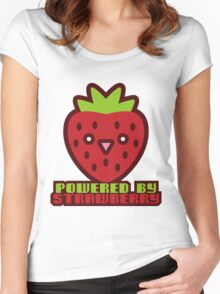 POWERED BY STRAWBERRY Women's Fitted Scoop T-Shirt
