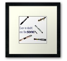 Doctor who sonic screwdriver  Framed Print