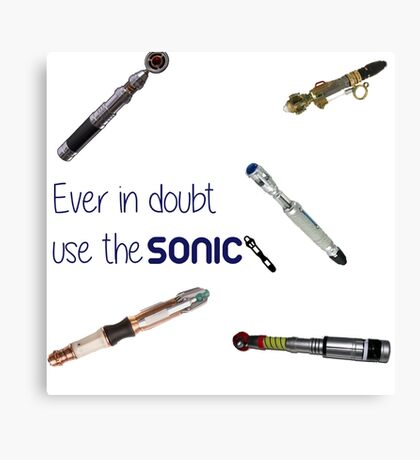 Doctor who sonic screwdriver  Canvas Print