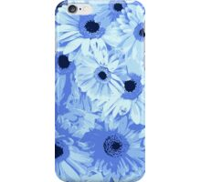 Gerbera Flowers, Petals, Blossoms - Blue iPhone Case/Skin