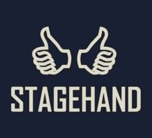 Stagehand White (Useful design) decoration 	Clothing & Stickers  by goodmusic